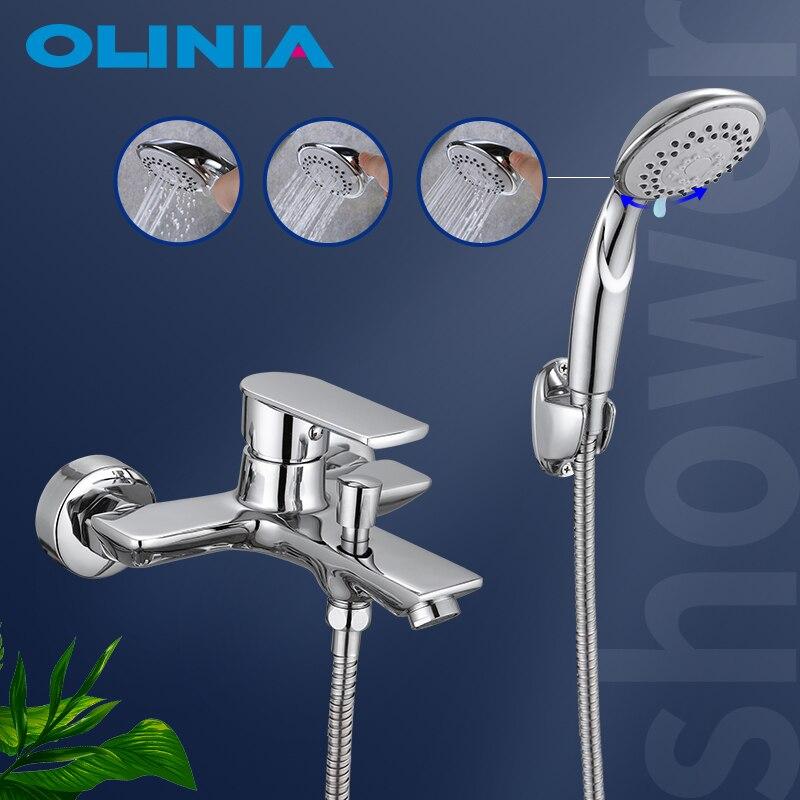 Olinia mixer bathroom bathroom shower faucet bathtub faucet bathroom shower set mixer bath tap bath shower  OL8300