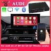 Bezprzewodowy Apple Carplay box Android Auto moduł dla Audi A5 A4 A6 A7 B9 Q3 Q5 Q7 S5 S7 OEM aktualizacja ekranu multimedia AirPlay