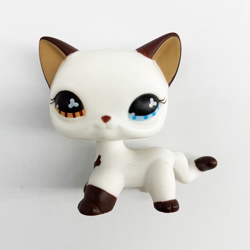 New Lps Pet Shop Toy DobermanCockerSpaniel PinkDog Black Short Hair Cat Collection Action Standing Role Playin Children'sGift