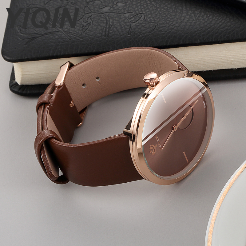 2019 New Fashion Quartz Wristwatches Large Dial Ladies Watch Women Watches High Quality Leather Female Clock Relojes Para Mujer