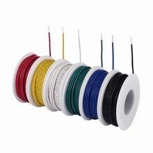 Tuofeng kit de fios sólidos, 22 awg, fio de ligação sólido-6 cores diferentes, 30 pés, carreiras, 22 calibres-kit de fios de gancho