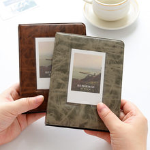 Álbum de fotos polaroid de 64 bolsos, armazenamento instantâneo de 3 polegadas para fujifilm instax mini filme 8 álbum instax fotograf