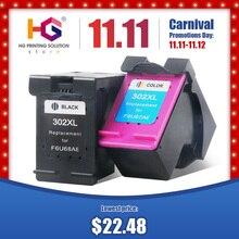 Qsyrainbow Gereviseerde Cartridge Vervanging Voor Hp 302 HP302XL Inkt Cartridge Voor Deskjet 1112 2130 2131 1110 1111 Printer