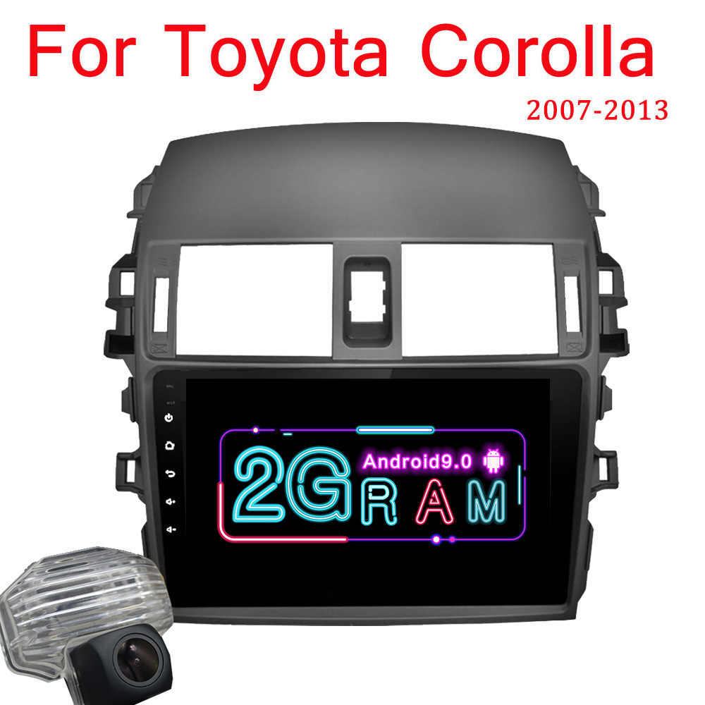 Android 9.0 Mobil Radio Multimedia Player untuk Toyota Corolla E140/150 2008 2009 2010 2011 2012 2013 Stereo GPS navigasi 2 DIN