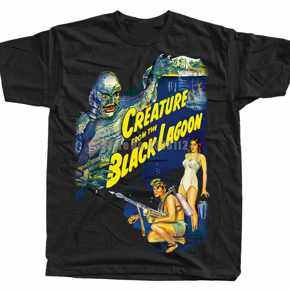 Creature From The Black Lagoon Movie Poster Men'S 3D Print T Shirts Fishinger T Shirts Fitness Tshirt Gay T-Shirt Gcuolu image