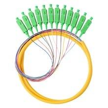 FTTH 12 Core SC APC Simplex 0,9 мм комплект волоконно-оптического кабеля косички патч-корд
