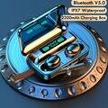TWS Bluetooth 5,0 наушники 2200 мАч зарядная коробка беспроводные наушники 9D стерео спортивные водонепроницаемые наушники гарнитуры с микрофоном