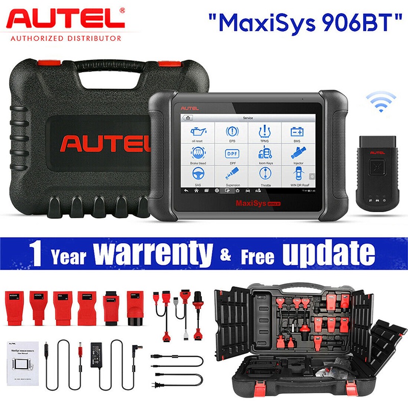 Autel Maxisys MS906BT Pro Ecu Codering Super Tablet Scanner Diagnostic Tool MS908P OBD2 Auto Accessoires Draadloze Bluetooth