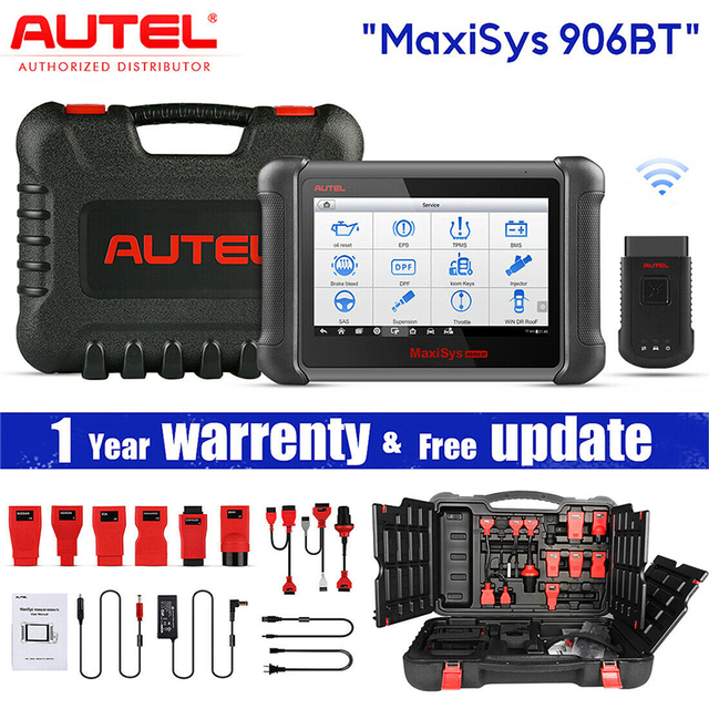 Autel Maxisys MS906BT PRO ECU Coding Super Tablet Scanner Diagnostic Tool MS908P OBD2 Car Accessories Wireless Bluetooth