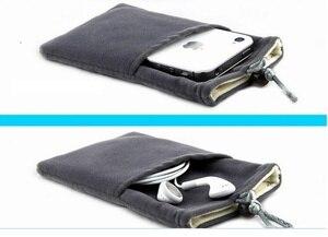 """Хорошее качество, универсальный 5,8 """"чехол для смартфона, бархатный тканевый чехол для iphone 6/7 plus S7edge GX8 xiaomi 4c mi5 oneplus2/3"""