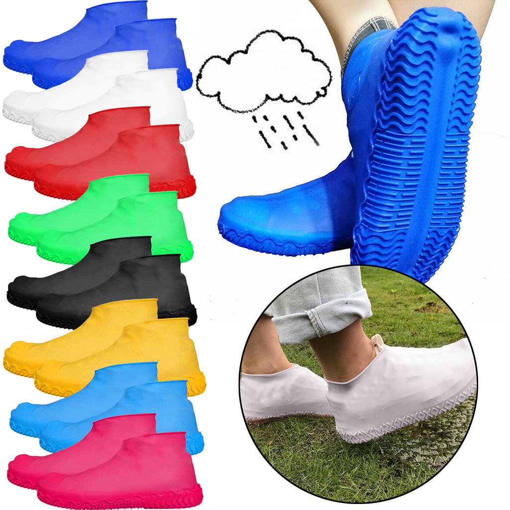 Silicone Overshoes Rain Waterproof Shoe Covers Boot Cover Protector Recyclable  Rain Shoes Boots Covers Overshoes Galoshes Y20|Shoes Covers|   - AliExpress