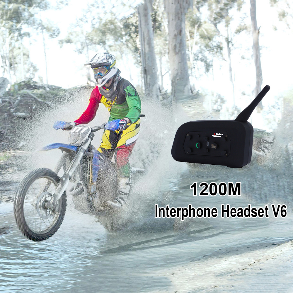 Black Plastic Rubber Motorcycle Bluetooth Receiver Stereo Headset 3.3-4.2V To Mobile Phones Support Bluetooth Accessories