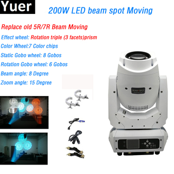 200W Led Beam Spot Moving Head Light Beam Spot Wash LED Light Party Light DJ Stage Light Night Club Lyre Beam Led Moving Head new stage light 260w led spot zoom moving head light 6 18 dmx channels beam spot wash 3in1 led strong light for party disco dj