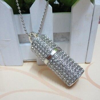Real Capacity Jewelry Crystal USB 32GB 64GB 128GB 16GB USB Flash Memory Drive Stick Pen/Thumb/Car 8GB Pendrive 1TB 2TB Gift 2.0