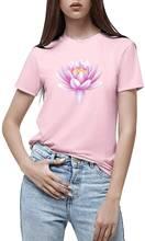 Забавная женская футболка с цветочным рисунком Удобная Повседневная