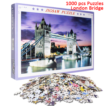 Jigsaw Puzzles 1000 Pieces for Adult Landscape Romantic Painting Game Adult Puzzles Wooden Assembling Puzzles Educational Toys фото