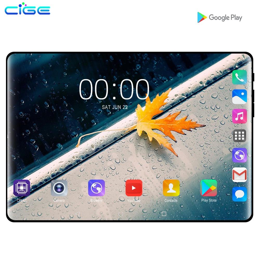 CiGe 10.1 pouces tablette PC Android 9.0 3G 4G Octa Core 6GB RAM 128GB ROM GPS FM Bluetooth tablettes appel téléphonique 10 IPS 1280x800 cadeaux