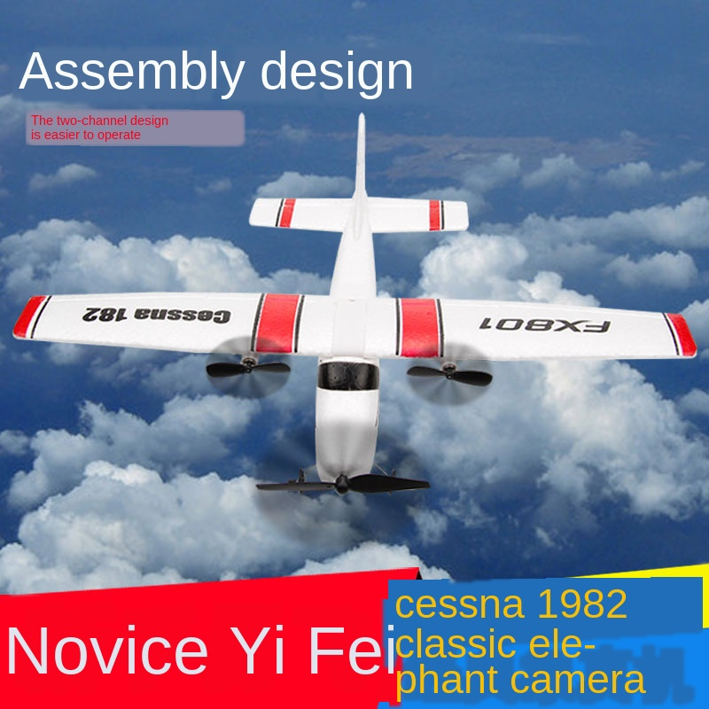 Beginner Electric RC Airplane Remote Control Glider Airplane Model Toy Cesner 182 Fixed-Wing Plane image