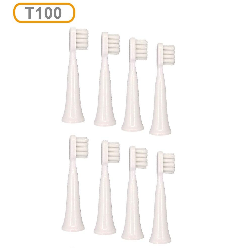 8 шт. T100 сменные головки для Xiaomi Mijia T100 Mi умная электрическая зубная щетка для чистки отбеливания