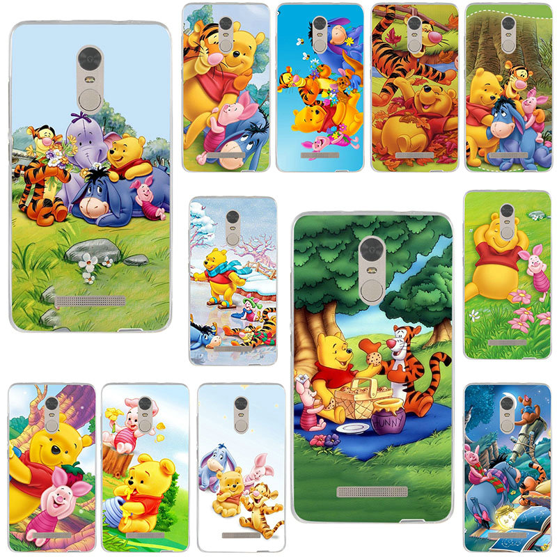 Soft Silicone TPU <font><b>Cases</b></font> Cover for Xiaomi <font><b>Mi</b></font> Note 2 3 4 4C 4i 5 5S 5X 6 6X 8 <font><b>9</b></font> <font><b>SE</b></font> A1 A2 Lite Plus Pro Cute And Clumsy Winnie Pooh image