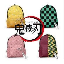 Аниме демон убийца Kimetsu no Yaiba Kamado Tanjirou Косплей рюкзак агатсума зенитсу Оксфорд молния сумка на плечо подростковый ранец