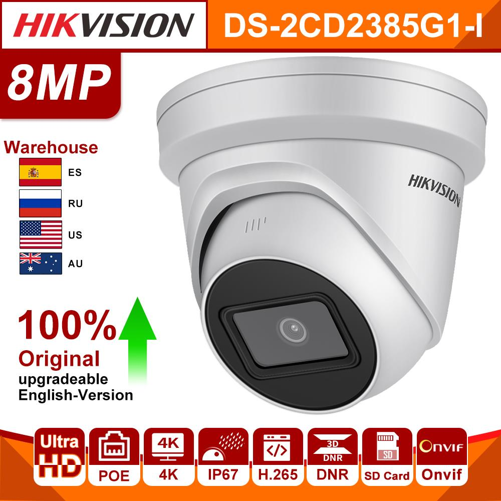 Original Hikvision IP Camera DS-2CD2385G1-I 8MP IP Dome Security Camera H.265 HD CCTV POE WDR Camera Face Detect Darkfighter