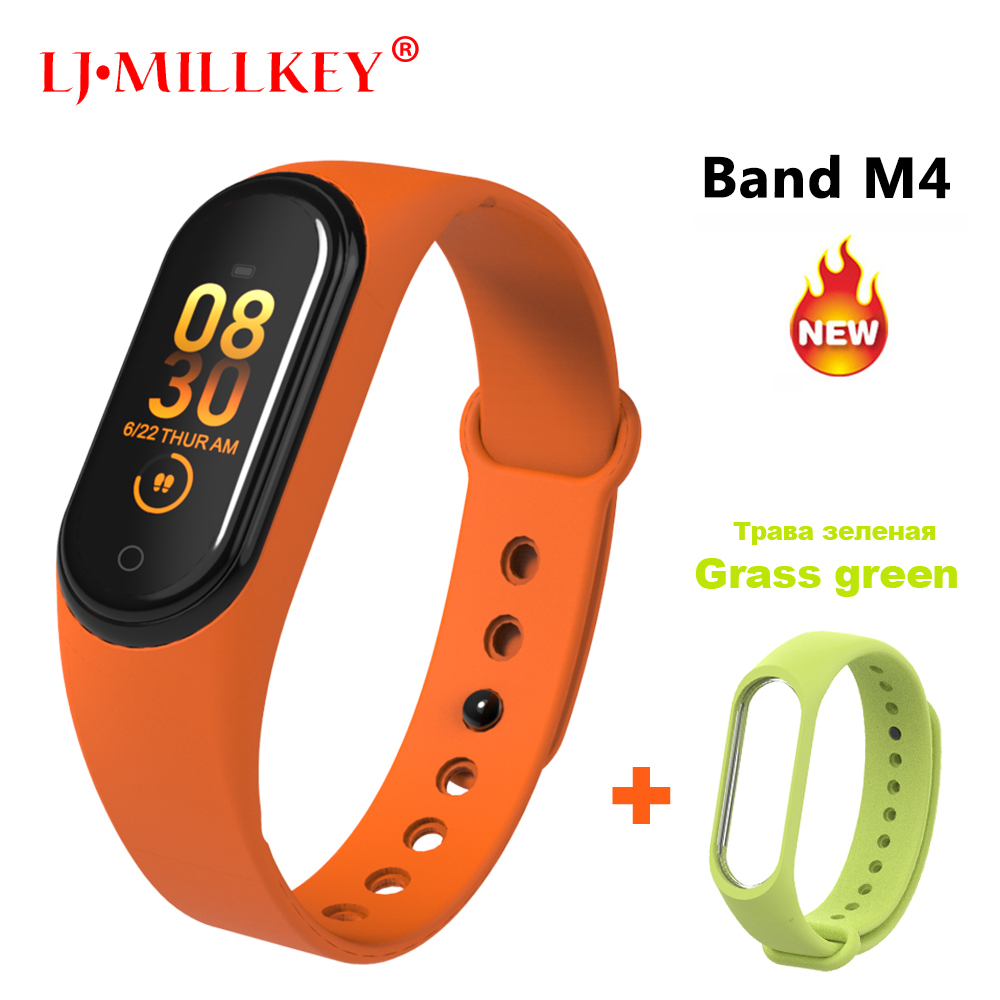 M4 Smart Band For Xiaomi Mi Band 4 Band4 Heart Rate Monitor/Blood Pressure/Pedometer Sports Bracelet Fitness Bracelet Wristbands xanes a6s