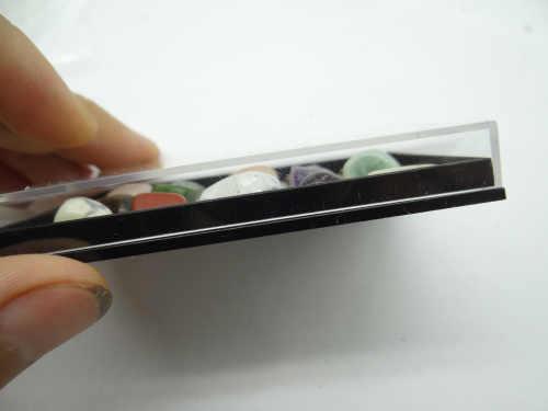 Amostras de Pedra Natural Aventurina Quartzo com Olho de Tigre de Cristal Lapis Laises Amostra uma caixa de 15 peças para DIY Fazer Jóias nenhum buraco