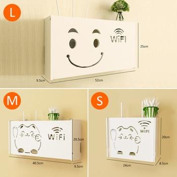 Wireless Wifi Router Storage Box PVC panel Shelf Wall Hanging Plug Board Bracket Cable Organizer Home Decor 3 Sizes