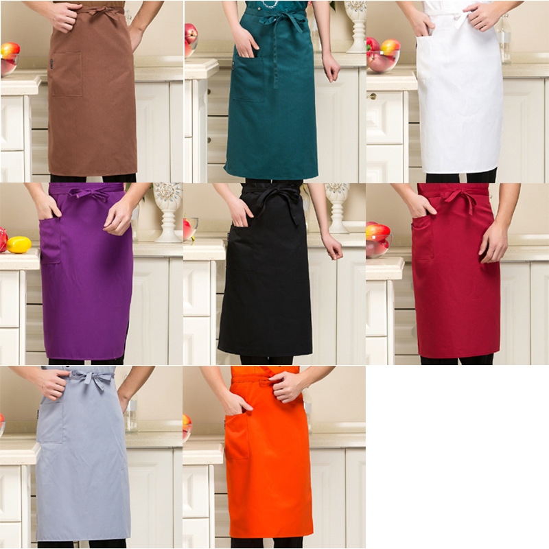 Hotel Chef Clothing Work Clothes Apron Solid Color Multi-color Selectable
