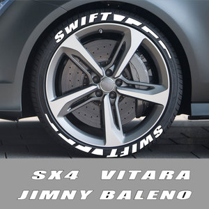 Автомобильные резиновые наклейки с буквенным декором для автомобильных мотоциклов DIY Стайлинг наклейки для Suzuki Vitara Swift Baleno Jimny SX4 Ignis Alto Samurai