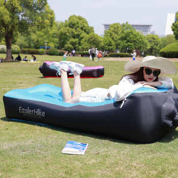 Portable Inflatable Lounger Air Sofa Bed WaterProof Anti-Air Leaking Break Beach Lazy Cushion Chair for Traveling Camping Picnic - DISCOUNT ITEM  50 OFF Furniture