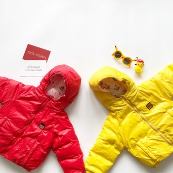 Tonytaobaby Children's Clothing Boys and Girls Wear Candy Clothes on Both Sides Lovely Cartoon Light and Thin Down Coat