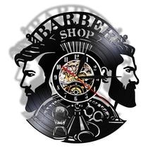 Quartz Clock Watch Decorative Hairstyle Barber-Shop Wall-Art Silent Gift Salon