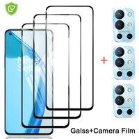 6 in 1 schutz glas für oneplus 9R screen protector objektiv kamera gehärtetem glas Für one plus 9 7 8 6 T Gehärtetem glas