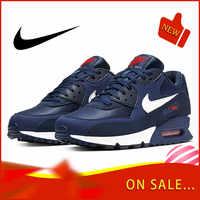 Оригинальный Nike Оригинальные кроссовки AIR MAX 90 ESSENTIAL для мужчин кроссовки модные классические уличная спортивная дышащая обувь AJ1285-403