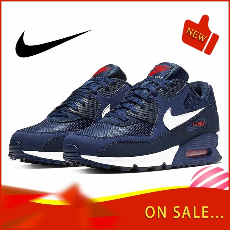 Originale autentico NIKE AIR MAX 90 scarpe da corsa degli uomini di modo ESSENZIALE classico scarpe sportive all'aria aperta traspirante AJ1285 403