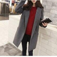 Women's Blazer Girls Long Fund Concise Suit Cotton Long Clot