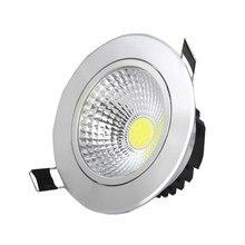 Diodo emissor de luz downlight cob 3 w led destaque recesso ponto luz regulável led decoração lâmpada do teto ac 110 v 220 v 55mm buraco