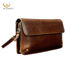 Fashion Male Organizer Wallet Leather Design Checkbook Chain