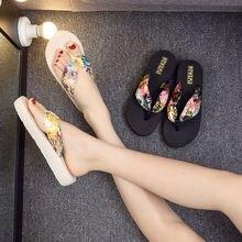 2020 женская обувь тапочки; Сезон лето; в богемном стиле с цветочным