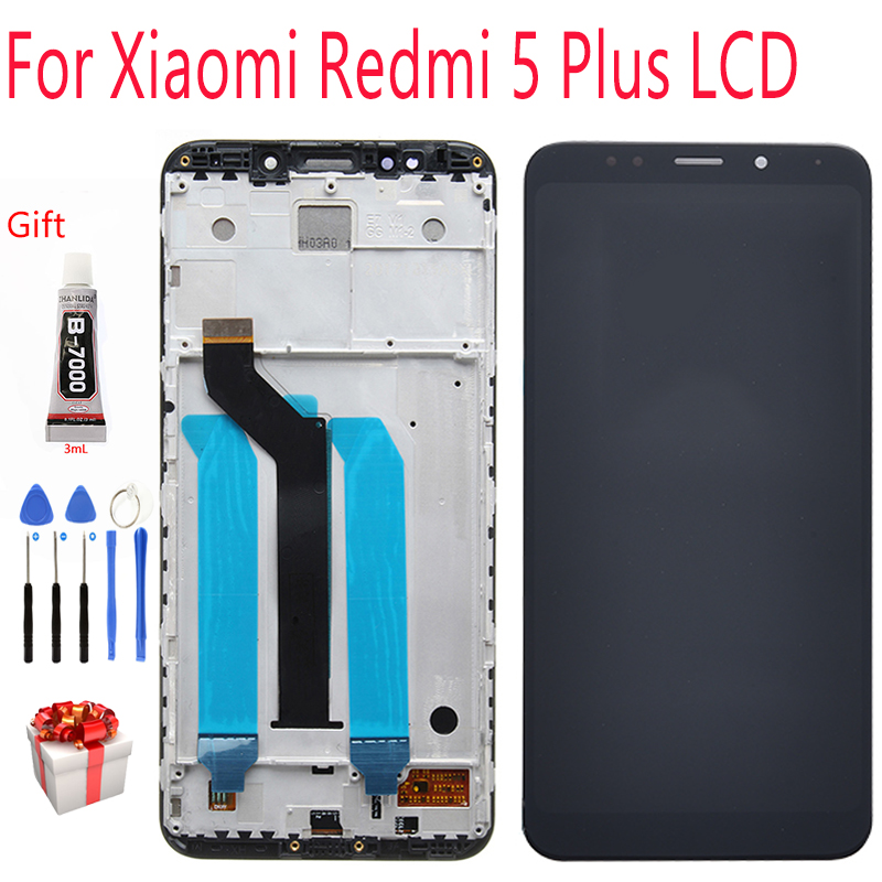 Display For Xiaomi Redmi 5 Plus LCD Display With Frame Touch Screen Display On For Redmi 5 Plus LCD 5.99 Inch 2160*1080 Display