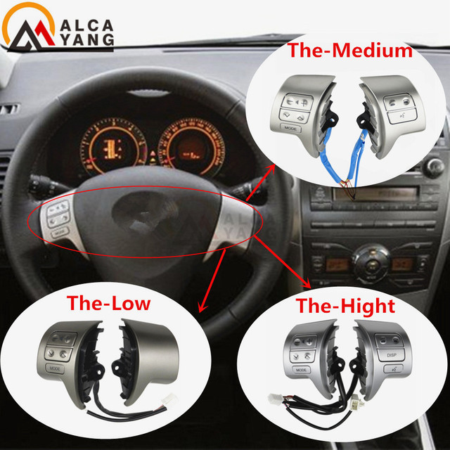 Bluetooth Steering Wheel Audio Control Switch 84250 02200 For Toyota Corolla ZRE15 2007 ~2010