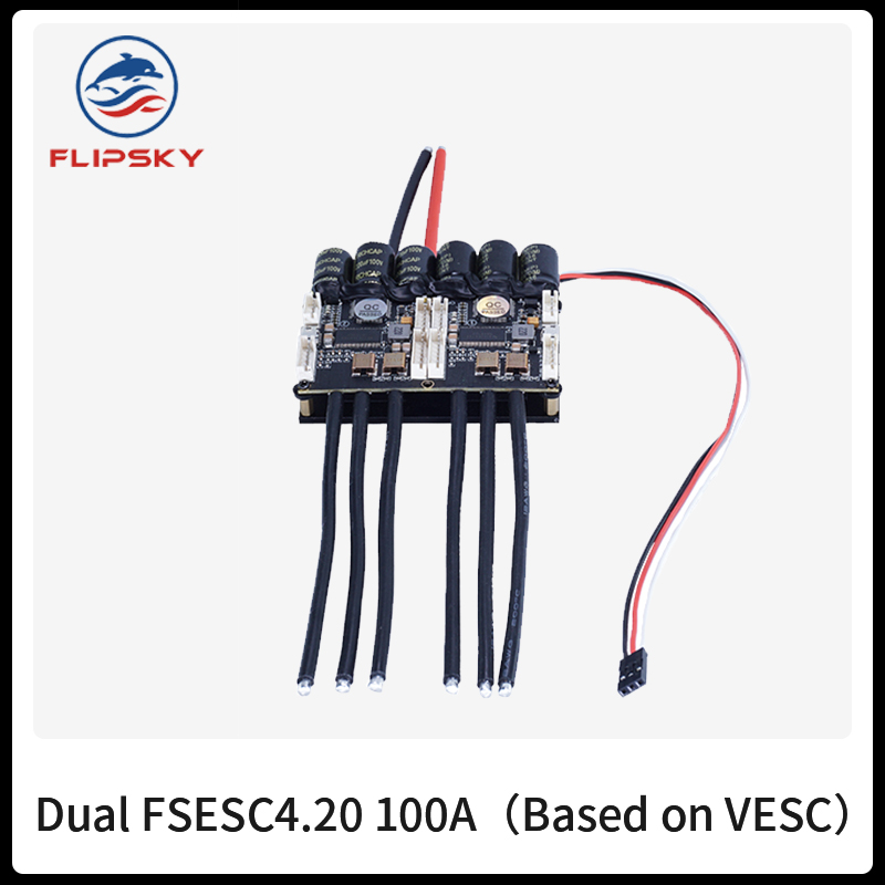 Brushless ESC Dual FSESC4.20 100A (Based on VESC ) with Anodized Aluminum Heatsink RC ESC Accessories Electric speed controller image