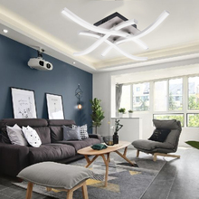 3/ 4ไฟLEDเพดานโคมไฟออกแบบ18W 24W AC 85 265V Kitchen Livingไฟโมเดิร์นห้องรับประทานอาหารตกแต่งในร่มRU
