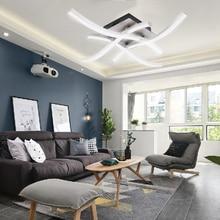 3/ 4 אור LED תקרת אור עיצוב מנורת 18W 24W AC 85 265V מטבח סלון חדר אורות מודרני אוכל חדר מקורה קישוט RU