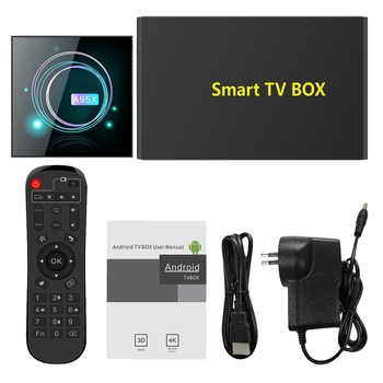 Smart TV Box Android 9.0 A95XF3 S905X3 4GB 64GB 8K HD 2.4/5.0G WiFi for Google Media Player Android TV Box A95X F3 Slim EU Plug