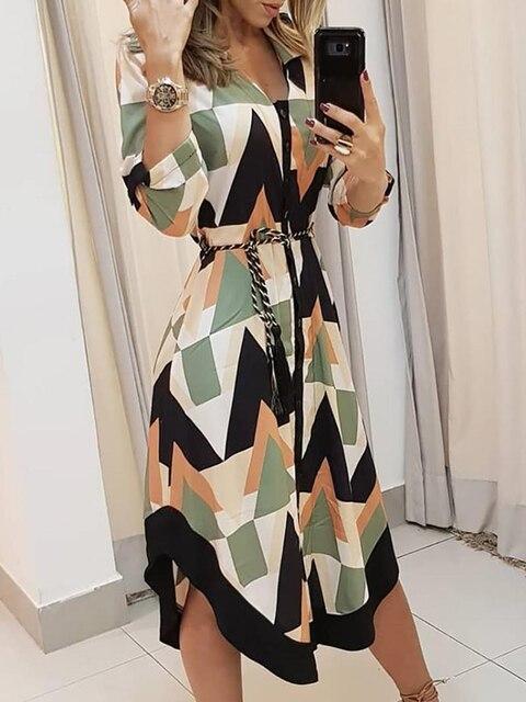 Фото 2020 летнее женское элегантное платье для отдыха стильное похудения