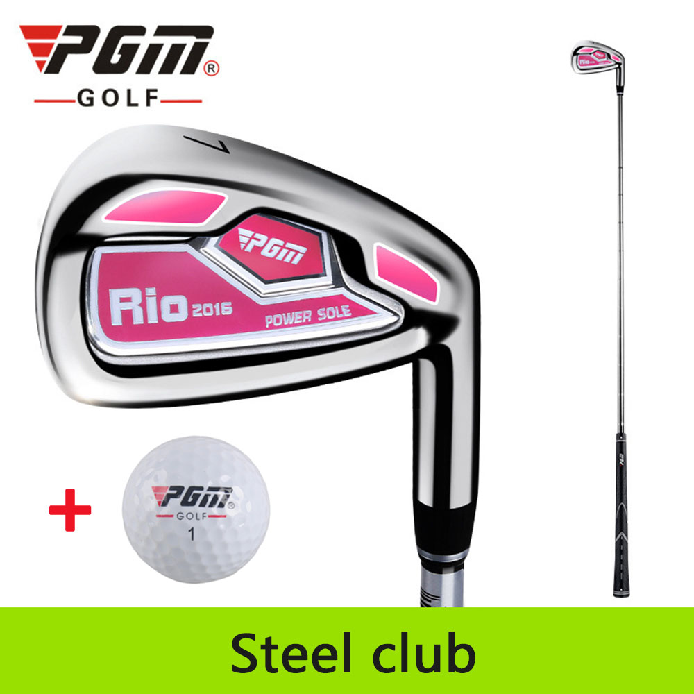 Image 5 - PGM No.7 Golf Club Women's Irons Putter Chip Silver Stainless Steel Carburizing Grinding Push Rod Chipping Training With Ball-in Golf Clubs from Sports & Entertainment