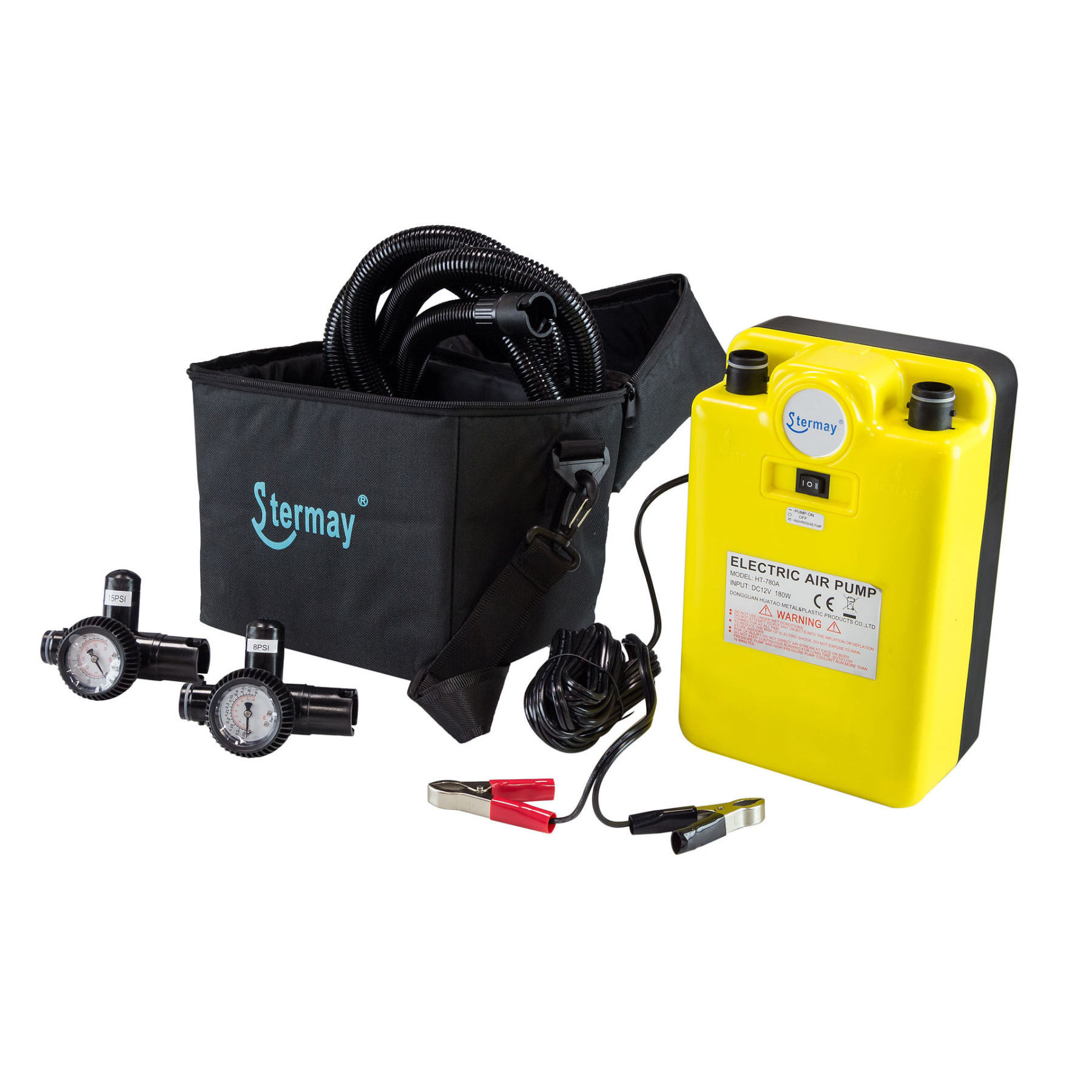 High Pressure Electric Stermay Pump With Crocodiles, 12 V
